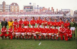 The Wales team that faced Scotland in the 1984 Five Nations
