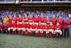 The Wales team group that defeated Ireland in the 1984 Five Nations