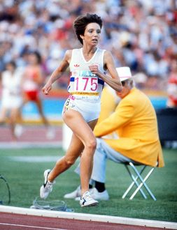 Wendy Sly at the 1984 Los Angeles Olympics
