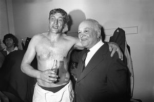 Willie John McBride and Danie Craven after the Third Test of the 1974 British Lions Tour