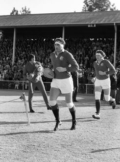 Willie John McBride leads the British Lions out against Northern Transvaal in 1974