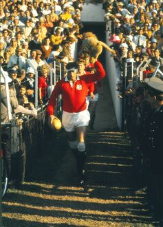 Willie John McBride leads the British Lions out for the Third Test against South
