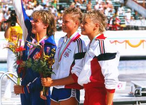 Women's 400m Freestyle Medal Presentation - 1984 Los Angeles Olympics